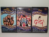 MGM Musical Variety VHS Lot of 3 That's Entertainment Part 1 & 2 - GiGi