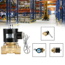"""AC 220V Electric Solenoid Valve Water Air 1/2"""" Brass Normal Closed N/C"""