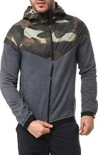 MENS NIKE ,,CAMO'' JACKET HOODIE OVERLAY WINDRUNNER SIZE XL (687583 065) GREY
