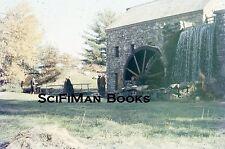 TECHNICOLOR Green Stars 35mm Slide Mill Stone Wheel Water People Bridge 1959!!!
