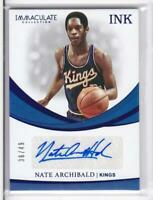 2018-19 Nate Archibald #/49 Auto INK Panini Immaculate Kings