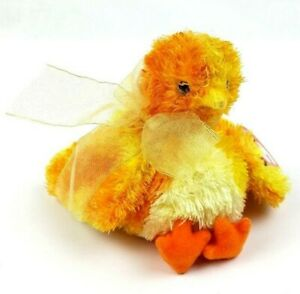 TY Beanie Baby Chickie Yellow Chick with Bow 2001 Easter Plush #A8