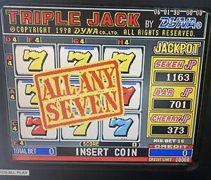 TRIPLE JACK *GOOD HOLD* - CHERRY MASTER 8LINER POG POKER POT O GOLD GAME BOARD