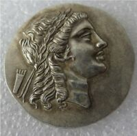 Ancient Greece Tetradrachm Coins Copper 200-150 B.C. Myrina Aeolis Greek Art