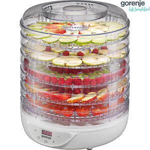 Gorenje Dörrgerät Dörrautomat Dörrer Obst Gemüse Fleisch Trockner Dehydrator NEU