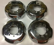 Set of 4 Winters Chrome Wide Five 5 Wheel Locators 8 Bolt Pit Stop Centers Hubs