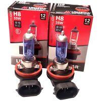 2x H8 Xenon LOOK Optik 6000K Nebelscheinwerfer Super WEISS 12V 35W Birnen Lampen