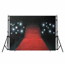 5X7ft Vinile Photography Red Carpet Art Photo Sfondo Studio Props Backdrop