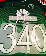 Club America 3rd Green Soccer Jersey Name Set Nombre y Numero D. Lainez #340