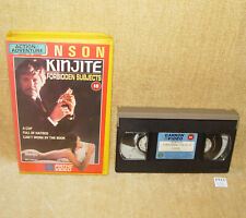 KINJITE FORBIDDEN SUBJECTS 1989 - COLLECTABLE BIG BOX VHS VIDEO CHARLES BRONSON