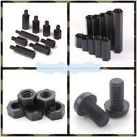 Black Nylon M3*6mm+6mm Standoff Column Spacer 6mm 25 Pack