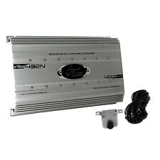 Lanzar 4000 Watt 4 Channel Bridgeable Car Audio Full Stereo Amplifier w/ Remote
