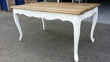 NEW 2M FRENCH PROVINCIAL RECYCLED RUSTIC SHABBY TIMBER DINING TABLE  (111-88)