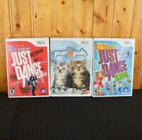 Nintendo Wii Game Lot Just Dance Kids -  Baha Men - Purr Pals