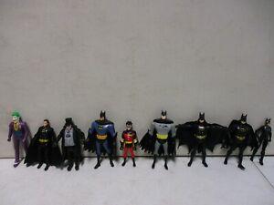 9 1990's Batman Figures with Penguin and Joker