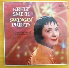 "KEELY SMITH ""swingin pretty"" 1959 LP Vinyl Record T-1145 Rainbow Label (EX)"