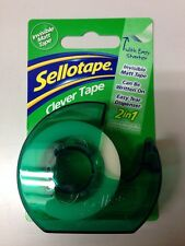 Sellotape Clever Tape Dispenser Matt Invisible Gift Wrapping Write on Easy Tear