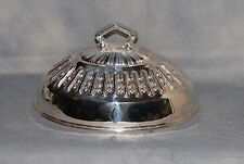 """Smith Silver Co. Bridgeport CT Elaborate Silverplate Food Dome Meat Cover 10"""""""