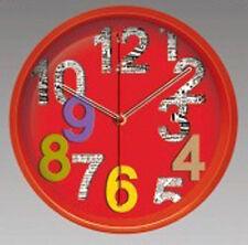 Wanduhr 3 D Design 32,5 cm Modern 2090 rot bunt