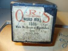 QRS Player Piano Word Roll While We Dream of Minnehaha's Love Marimba Waltz 1666