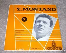 """YVES MONTAND FRENCH 7"""" RECORD with PS ODEON LABEL"""