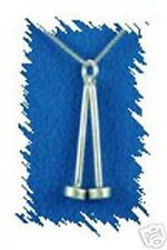 "Sterling Silver Band Large Mallets Charm + 18"" Chain"