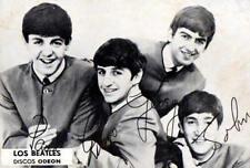 THE BEATLES Odeon Records Promo Photo Card PERU 1960's