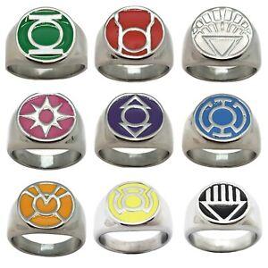 Sizes 5-16 Comics Green Lantern Ring superhero Steel Flash Justice league