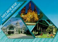 A8196cgt Australia V Melbourne Exhibition Cathedral Library Multiview postcard