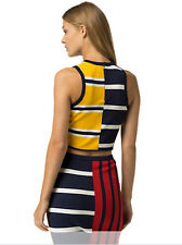 NWOT GIGI Hadid X TOMMY Hilfiger Patchwork Nautical Tank Top Viscose SML $99.50
