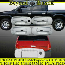 For 1998-2003 DODGE DURANGO 4dr Chrome Door Handle COVERS w/1 Key Hole+Tailgate