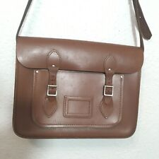 """The Cambridge Satchel Company Brown Tan Leather Messenger Bag With Buckles 13"""""""