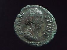 AE As of Faustina Wife of Roman Emperor Antoninus Pius, Aeternitas CC8461