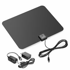 ViewTV Flat HD Digital Indoor Amplified TV Antenna with Amplifier 60 Miles Range