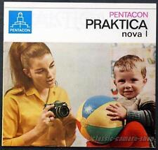 PENTACON Kamera Reklame Prospekt PRAKTICA NOVA I Broschüre Werbeheft (X2707