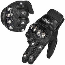 Alloy Steel Leather Touchscreen Motorcycle Bicycle Motorbike Powersports Gloves