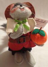 "Pilgrim Squirrel Figure Thanksgiving Boy Annalee Doll 6"" 2016 Nwt 350216 Plush"