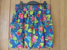 Hollister Multi coloured Lined Floral Mini Skirt Size L Large (Ref Z) Ex Con