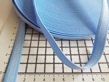 2m - Blue , Flat,  Elastic ,Making Bra Strap - Width - 12mm