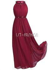 Damen Schulterfrei Abendkleid Cocktail Brautjungfer Ballkleid Langes Kleid 34-46