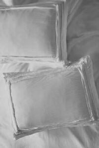Anthropologie Standard Shams Set of 2 Joey Washed Percale Light Gray 20 x 26 NIP