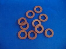 LOT OF TEN REAL RED RUBBER GARDEN HOSE WASHERS