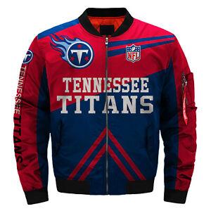 Men's Tennessee Titans Pilot Bomber Jacket Flying Tigers Flight Thicken Coat
