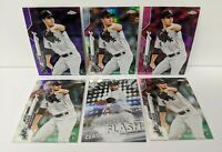 LOT (6) 2020 Topps Chrome Dylan Cease Purple /299 Pink Silver Prism Refractor