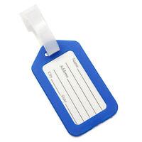 3X(Kofferanhaenger Kunststoff Gepaeckanhaenger Luggage Tags Blau B7U4) 6I
