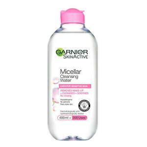Micellar Water Garnier Facial Cleanser Make up Remover Sensitive Skin 400ml