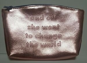 """IPSY Glam Bag """"Off She Went To Change The World"""""""