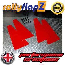 miniflapZ (set di 4) Universale 'Mini' Parafanghi / Paraspruzzi Rosso 3mm PVC
