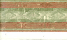 Southwest Design in Greens and Coral Colors  WALLPAPER BORDER