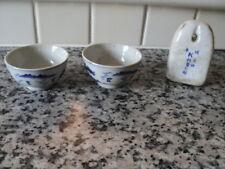 2 Cuenco De Té Antiguo japonés hecho a mano con un elemento Colgante?